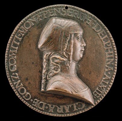 Chiara Gonzaga, 1464-1503, Wife of Gilbert de Bourbon 1481 [obverse]