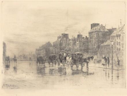 Une Matinée d'Hiver au Quai de l'Hôtel-Dieu (Winter Morning on the Quai de l'Hôtel-Dieu)