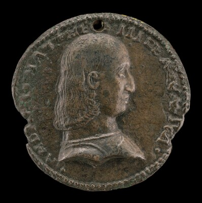 Andrea Matteo III d'Acquaviva, 1457-1528, Duke of Atri and Teramo 1481 [obverse]