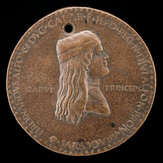 Ferdinand of Aragon, died 1496, Prince of Capua and King of Naples 1495 [obverse]