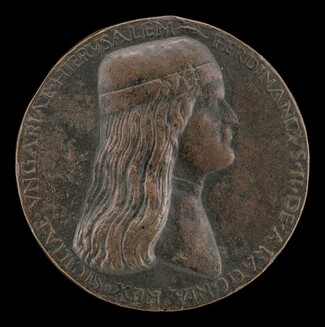 Ferdinand II of Aragon, died 1496, Prince of Capua and King of Naples 1495 [obverse]