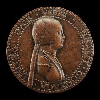 Elisabetta Gonzaga, died 1526, Duchess of Urbino, Wife of Guidobaldo I 1489 [obverse]