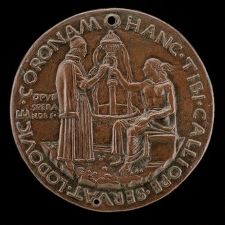 Carbone Receiving a Wreath from Calliope [reverse]