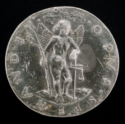 Cupid Holding a Palm-branch and Balance [reverse]