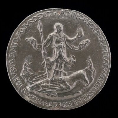 Man Standing on an Eagle [reverse]