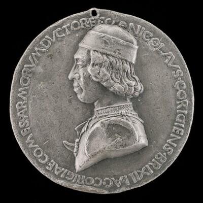 Niccolò da Correggio, 1450-1508, Count of Brescello 1480 [obverse]