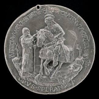 Niccolo da Correggio and a Friar [reverse]