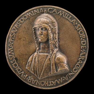 Camilla Sforza of Aragon, Wife of Costanza Sforza 1475