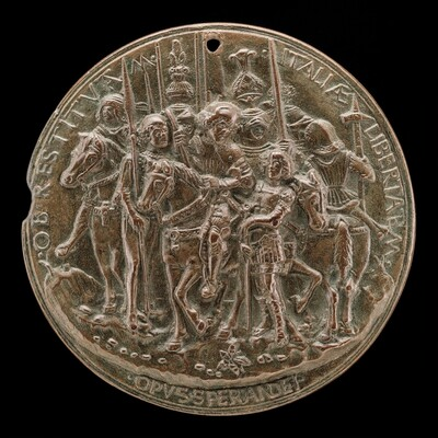 Francesco II Gonzaga and Soldiers [reverse]