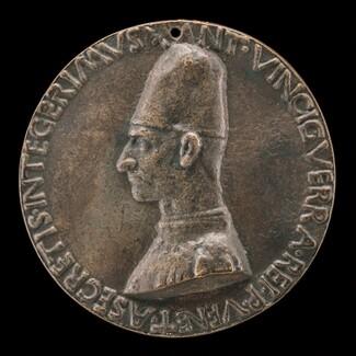 Antonio Vinciguerra, 1468-1502, Poet, Secretary to the Republic of Venice [obverse]