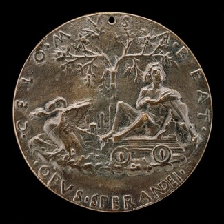 Apollo on a Car Drawn by Swans [reverse]