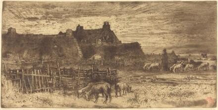 Les Bergeries, Soleil Couchant (Pastoral Scene, Setting Sun)