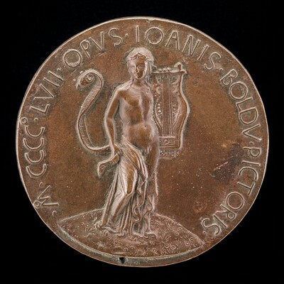 Apollo with Lyre and Long Scroll [reverse]