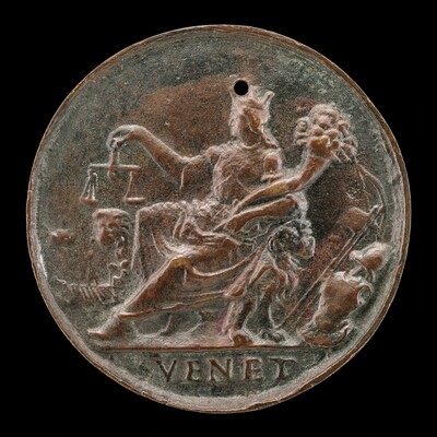 Venetia Holding Scales and Cornucopiae [reverse]