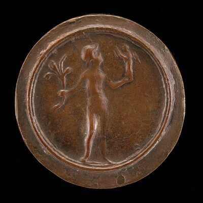 Figure Holding Victory and Branch [reverse]