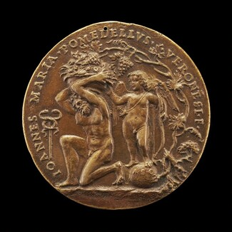 Man Holding Fruit, and Cupid [reverse]