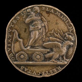 Figure in a Car Drawn by a Dragon and an Eagle [reverse]