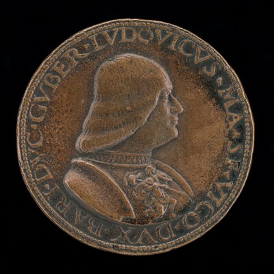 Lodovico Maria Sforza, called il Moro, 1452-1508, 7th Duke of Milan 1494-1500 [obverse]