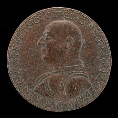 Niccolo Orsini, 1442-1510, Count of Pitigliano and Nola, Captain of the Army of the Roman Church and of the Florentine Republic [obverse]