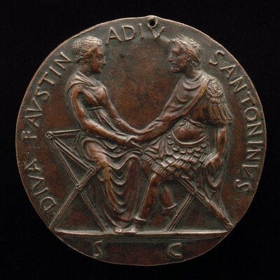Antonius Pius and Faustina Joining Hands [reverse]