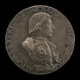 Alfonso V of Aragon, 1396-1458, King of Naples and Sicily 1443 [obverse]