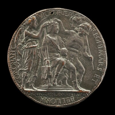 Alfonso Crowned by Mars and Bellona [reverse]