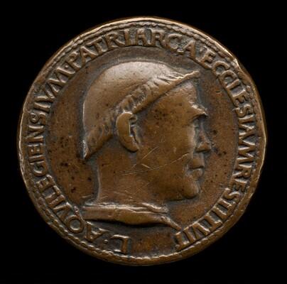 Lodovico Scarampi (Mezzarota), died 1465, Patriarch of Aquileia 1444 [obverse]