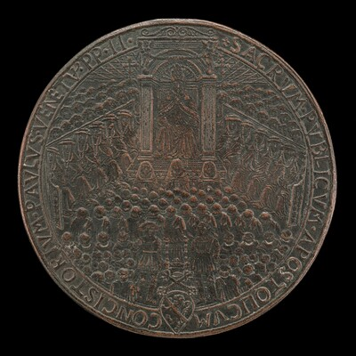 Paul II (Pietro Barbo, 1464-1471), Pope 1464, in Public Consistory [obverse]