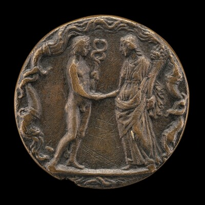 Mercury with a Female Figure [reverse]