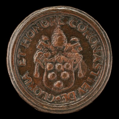 Shield with the Medici Arms, Surmounted by the Papal Tiara and Crossed Keys [reverse]