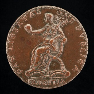 Florence Holding an Orb and Triple Olive Branch [reverse]
