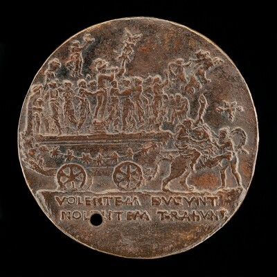 Triumphal Car with Mercury and the Muses [reverse]