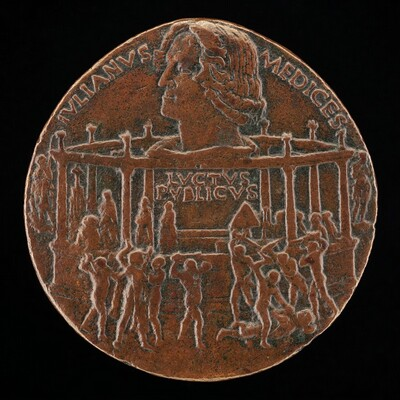 The Murder of Giuliano I de' Medici (The Pazzi Conspiracy Medal) [reverse]