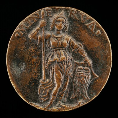 Minerva Resting on a Spear and Shield [reverse]