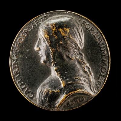 Caterina Sforza-Riario, 1463-1509, Countess of Forli and Imola [obverse]