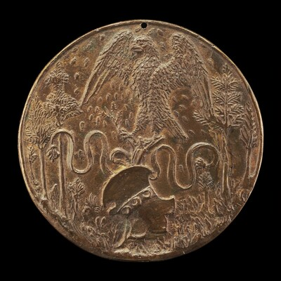 Eagle and Strozzi Shield in a Meadow [reverse]