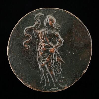 Wisdom Gazing at a Serpent [reverse]