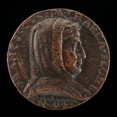 Francesco Petrarca of Arezzo, 1304-1374, Poet [obverse]