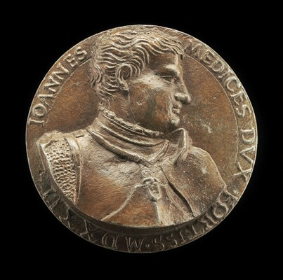 Giovanni de' Medici delle Bande Nere, 1498-1526, Celebrated Condottiere and Father of Cosimo I [obverse]