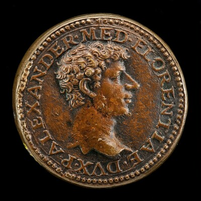 Alessandro de' Medici, 1510-1537, 1st Duke of Florence 1532 [obverse]