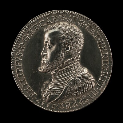 Philip II, 1527-1598, King of Spain 1556 [obverse]