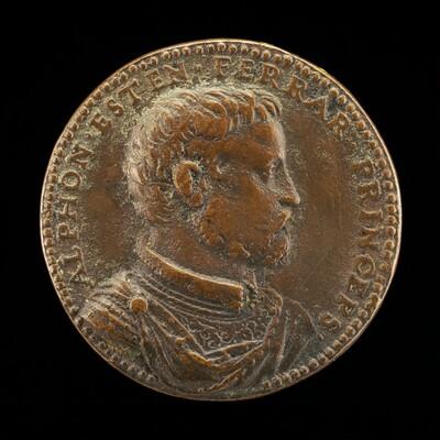 Alfonso II d'Este, 1533-1597, 5th Duke of Ferrara 1559 [obverse]