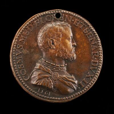Cosimo I de' Medici, 1519-1574, 2nd Duke of Florence 1537, later Grand Duke of Tuscany [obverse]