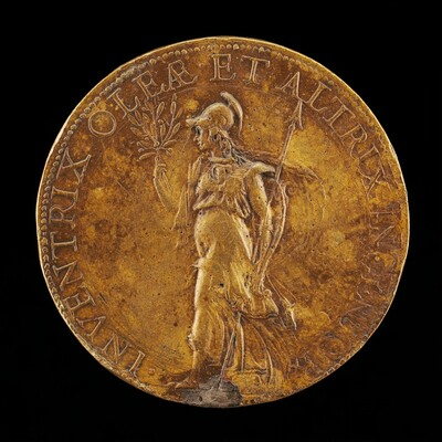 Minerva Holding an Olive Branch and a Spear [reverse]