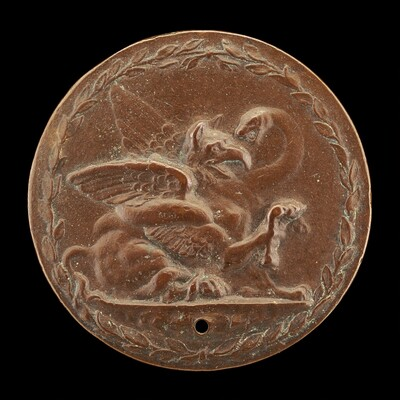 Griffin and Serpent Fighting [reverse]