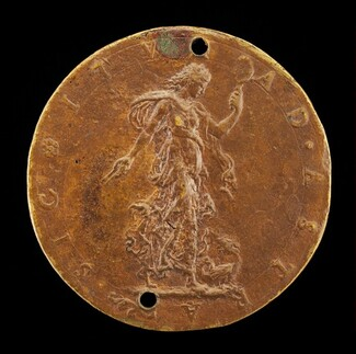 Prudence with a Dragon at her Feet [reverse]