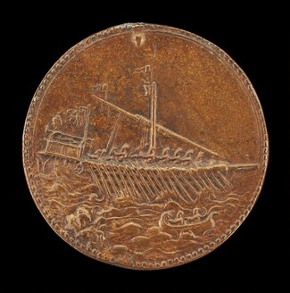 Galley and Small Boat [reverse]
