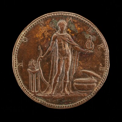 Apollo Holding a Bow and Lyre [reverse]