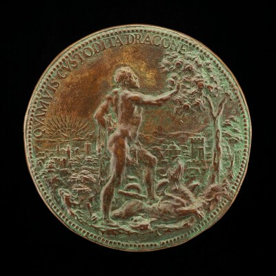 Fernando as Hercules Plucking the Apples of the Hesperides [reverse]