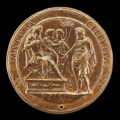 A Prince Receiving a Man with a Bridle [reverse]